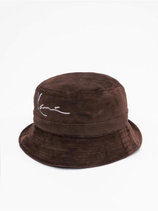 Karl Kani Chapeau Signature Velvet brun