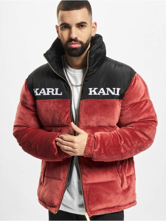 Karl Kani Chaquetas acolchadas Retro Velvet Block rojo