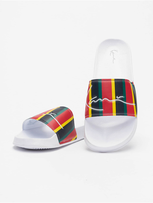 Karl Kani Claquettes & Sandales Signature Stripe Pool rouge