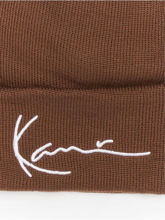 Karl Kani Czapki Signature brazowy