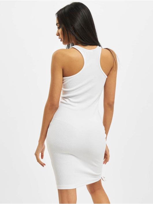 Karl Kani Dress Small Signature Gathered Rib white