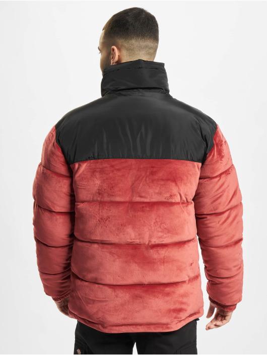 Karl Kani Gewatteerde jassen Retro Velvet Block rood