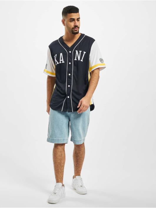 Karl Kani Hemd Kk College Baseball blau