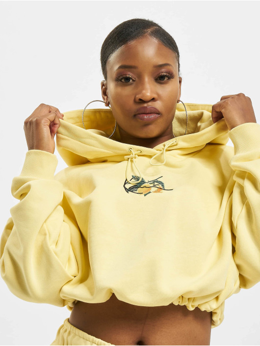 Karl Kani Hoody Small Signature Crop geel