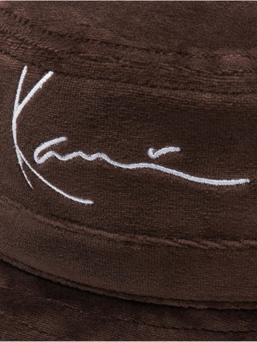 Karl Kani Hut Signature Velvet braun