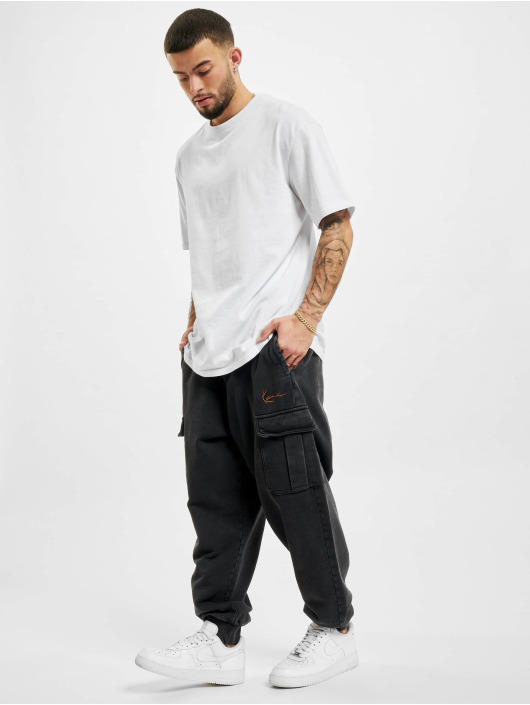 Karl Kani Jogginghose Small Signature Washed Cargo schwarz