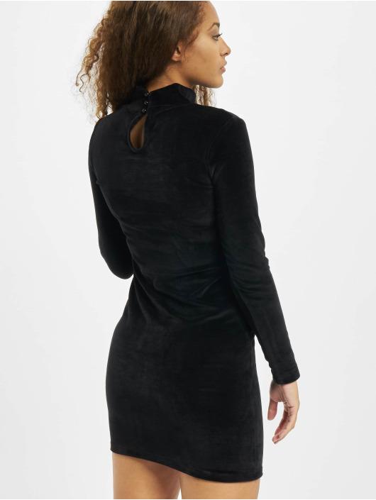 Karl Kani jurk Kk Small Signature Rhinestone zwart