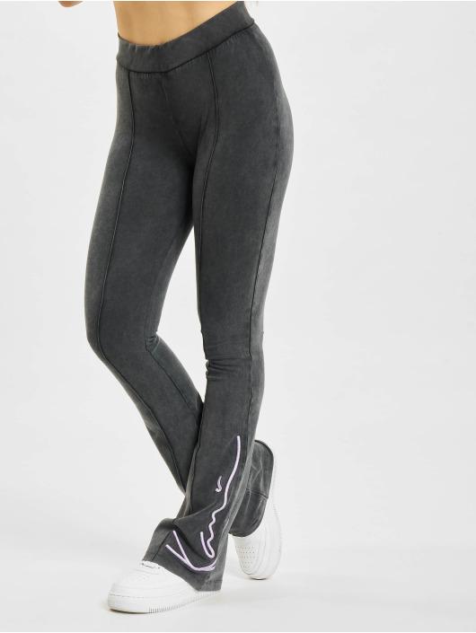 Karl Kani Legging Signature Washed Flared zwart