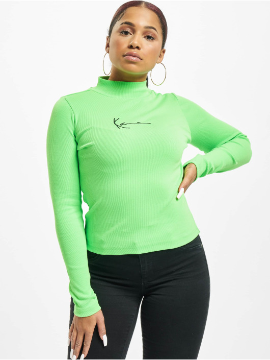 Karl Kani Longsleeve Kk Small Signature Rib Turtle green