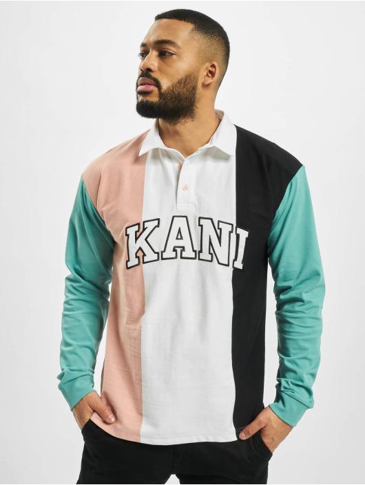 Karl Kani Longsleeve College Block Rugby weiß