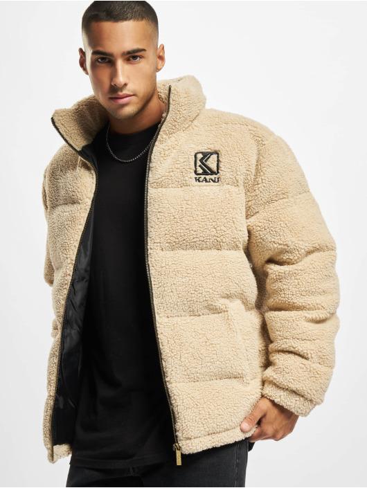 Karl Kani Manteau hiver Retro Teddy beige