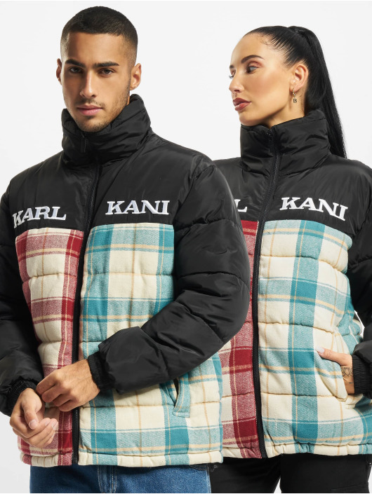 Karl Kani Manteau hiver Retro Block Corduroy noir