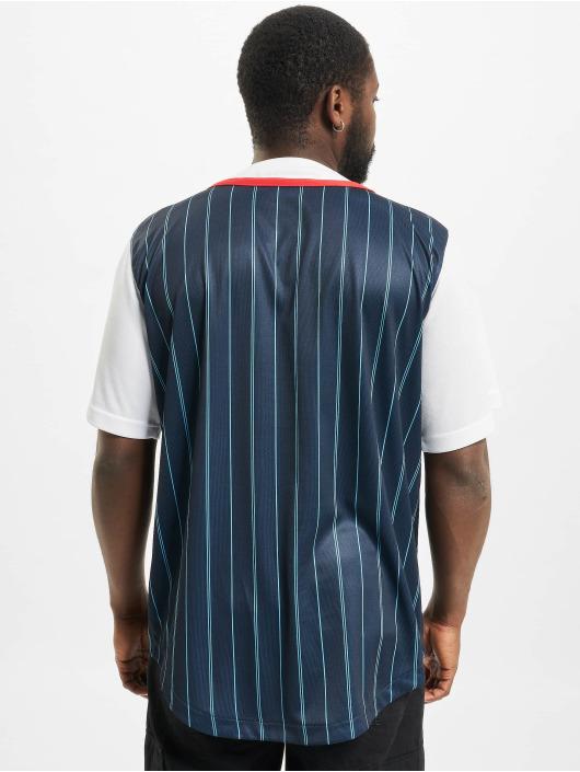 Karl Kani overhemd Varsity Block Pinstripe Baseball blauw