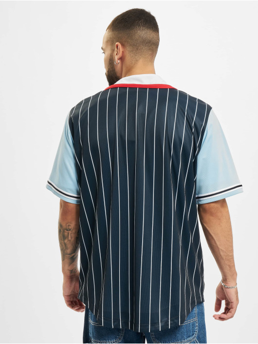 Karl Kani overhemd College Block Pinstripe blauw