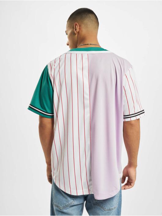 Karl Kani overhemd College Block Pinstripe Baseball paars