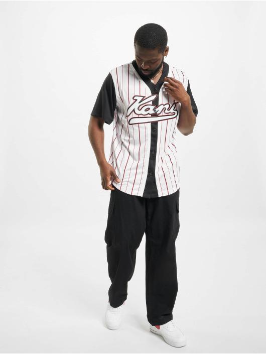 Karl Kani overhemd Varsity Block Pinstripe Baseball zwart