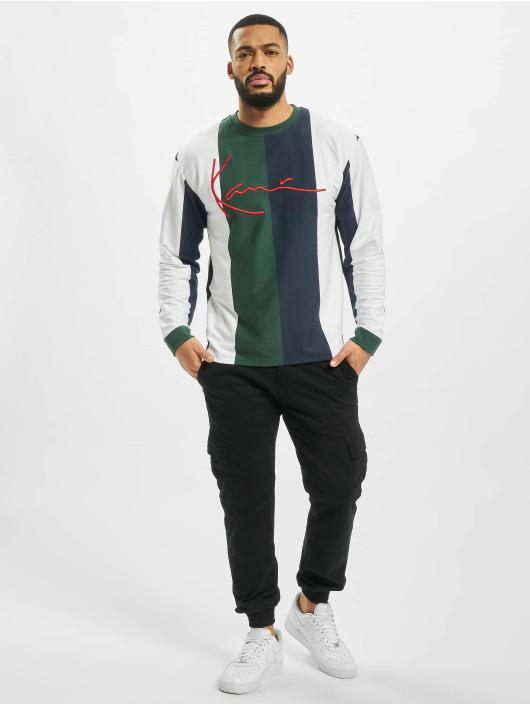 Karl Kani Pitkähihaiset paidat Signature Stripe valkoinen