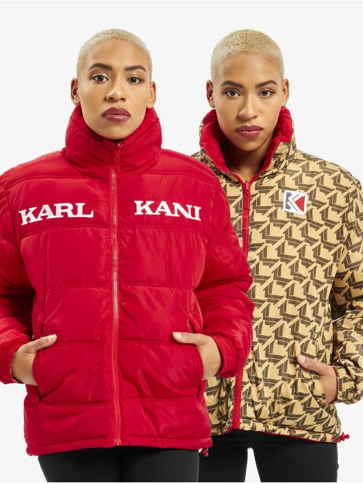 Karl Kani Puffer Jacket Retro Reversible red