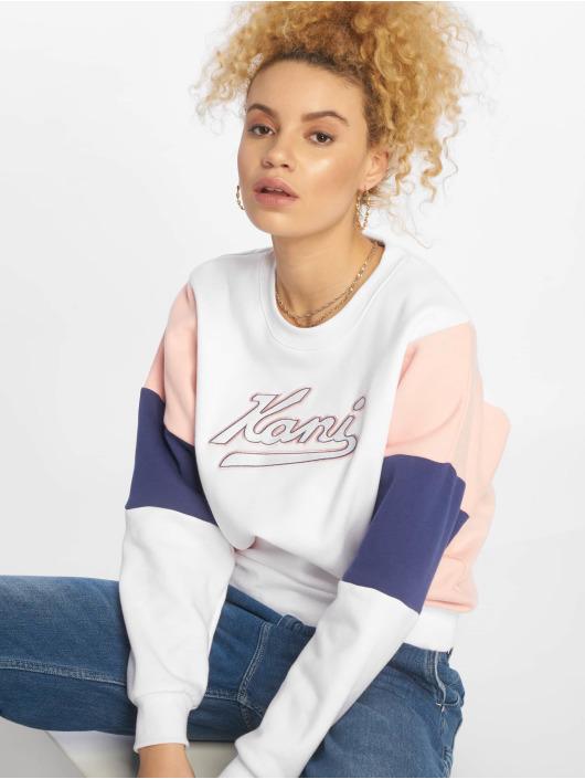 Verkauf Einzelhändler f09b1 e1e20 Karl Kani College Block Sweatshirt White/Rose/Blue