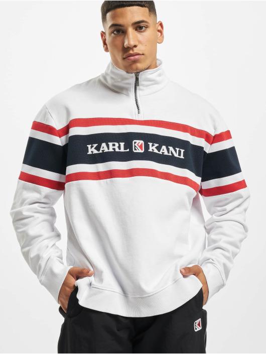 Karl Kani Pullover Kk Retro Block Troyer weiß
