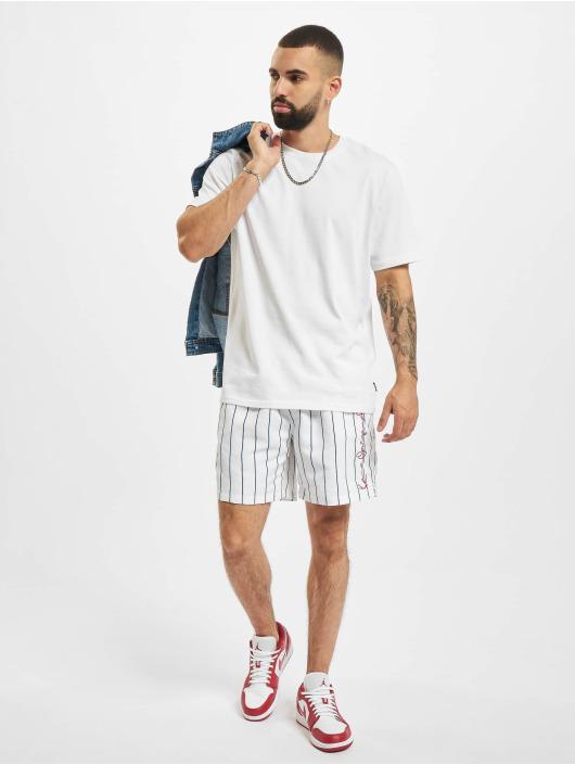 Karl Kani Short Originals Pinstripe blanc
