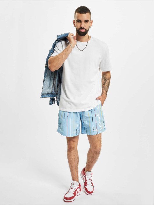 Karl Kani shorts Signature Pinstripe blauw