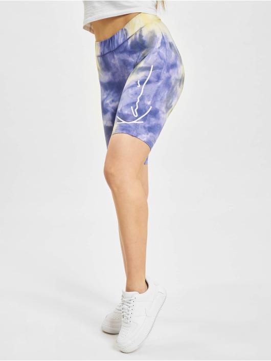 Karl Kani shorts Signature Tie Dye Cycling paars