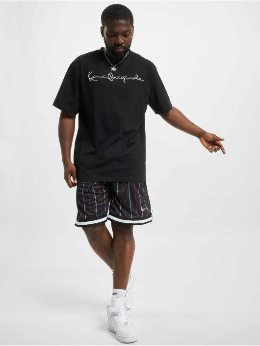 Karl Kani shorts Small Signature Pinstripe Mesh zwart