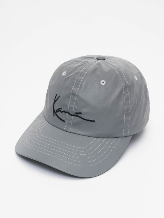Karl Kani Snapback Cap Kk Signature Reflective silver