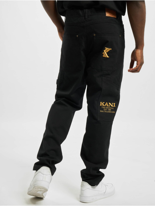 Karl Kani Straight Fit Jeans Og schwarz