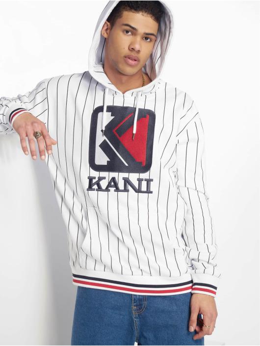 Karl Kani 621835 Og Capuche Pinstripe Homme Blanc Sweat cARq5L4j3S