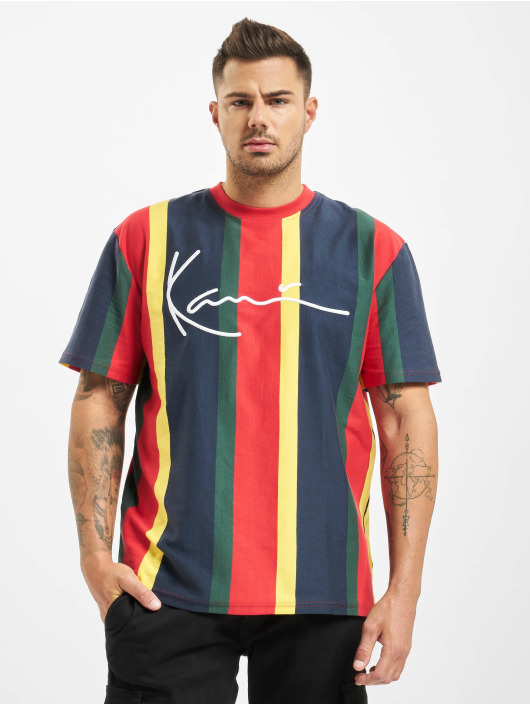 Karl Kani T-paidat Signature Stripe kirjava