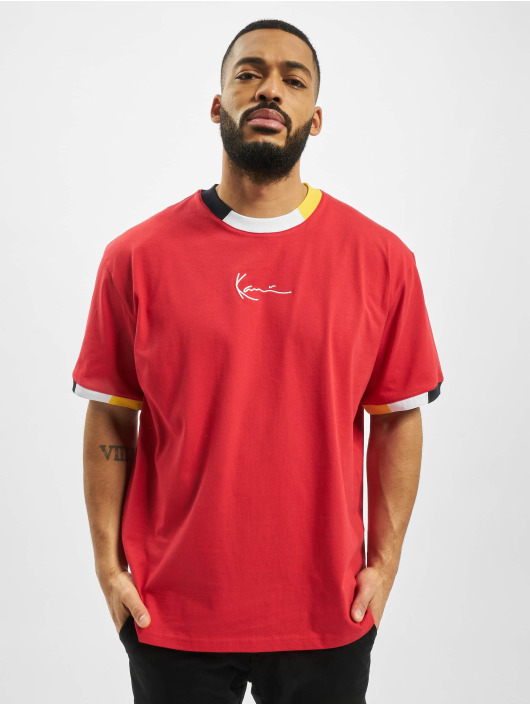 Karl Kani T-paidat Signature Ringer punainen