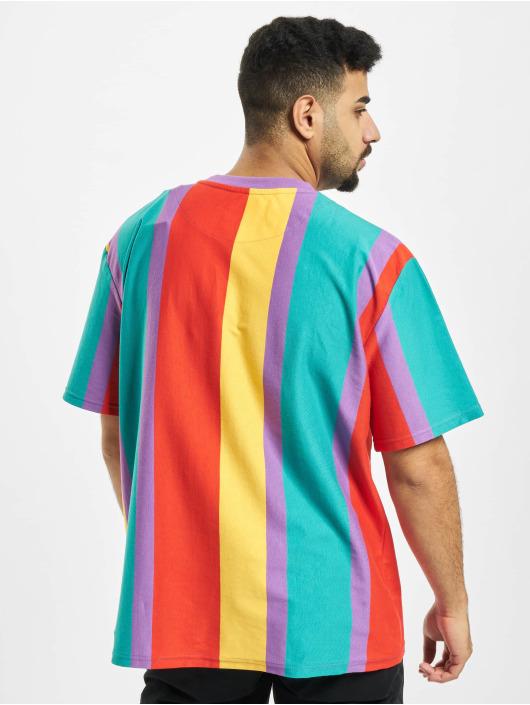 Karl Kani T-paidat Kk Signature Stripe purpuranpunainen