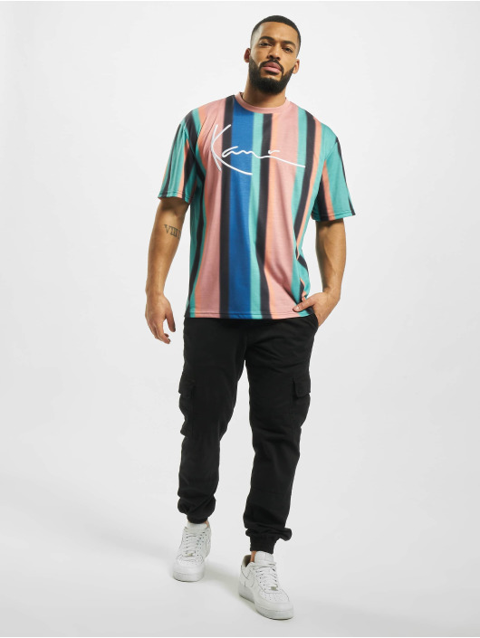 Karl Kani T-paidat Signature Stripe turkoosi