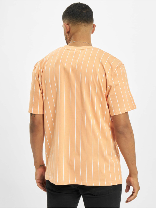 Karl Kani T-shirt Small Signature Pinstripe apelsin