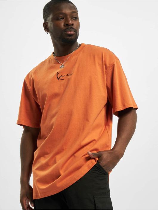 Karl Kani T-shirt Small Signature arancio