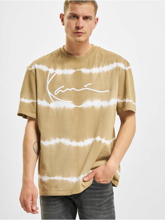 Karl Kani T-Shirt Signature Tie Dye beige