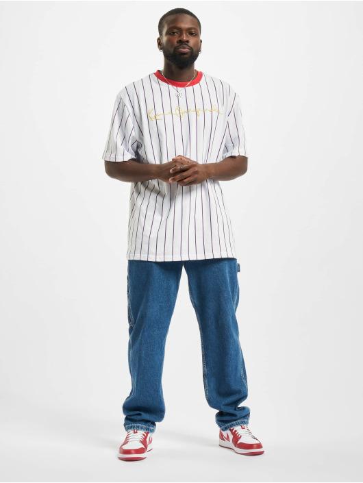 Karl Kani T-shirt Originals Pinstripe bianco
