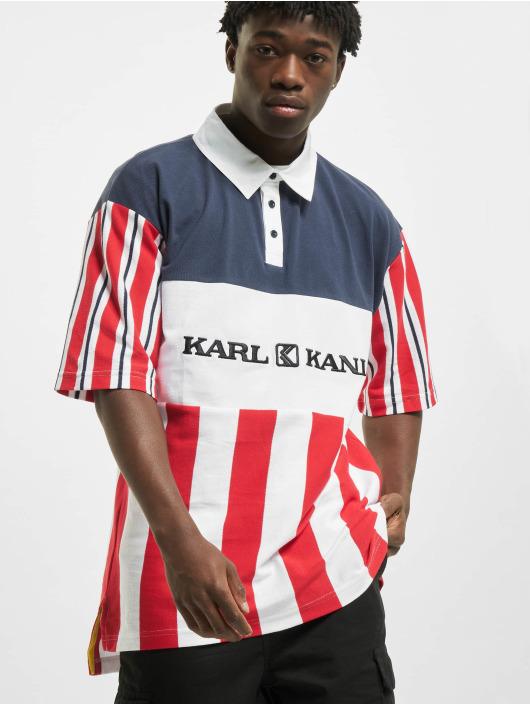 Karl Kani T-Shirt Retro Block Stripe blanc