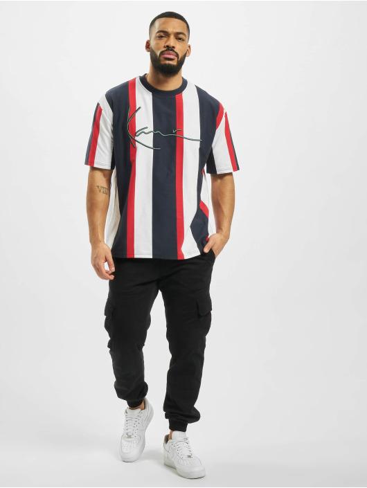 Karl Kani T-Shirt Signature Stripe blau