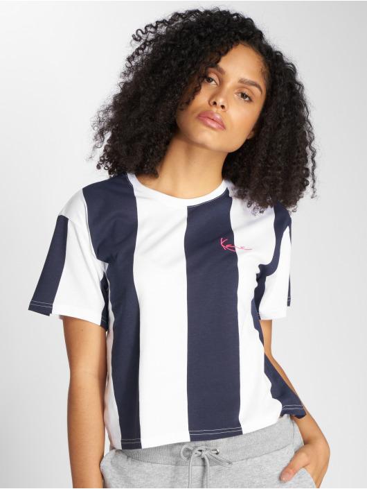 Karl Kani t-shirt Retro Stripe blauw