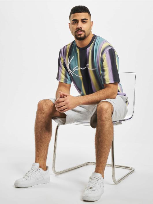 Karl Kani t-shirt Kk Faded Stripe Signature blauw
