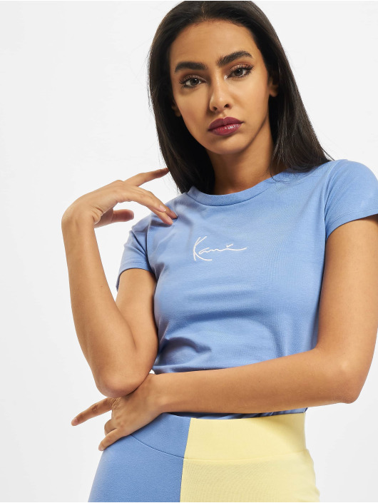 Karl Kani t-shirt Signature Short blauw