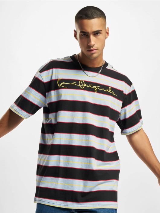Karl Kani t-shirt Originals Stripe blauw