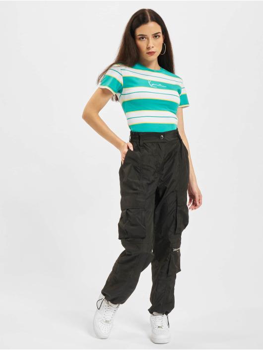 Karl Kani t-shirt Small Signature Stripe blauw