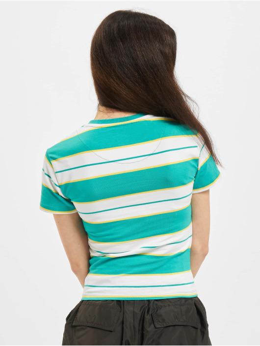 Karl Kani T-Shirt Small Signature Stripe bleu