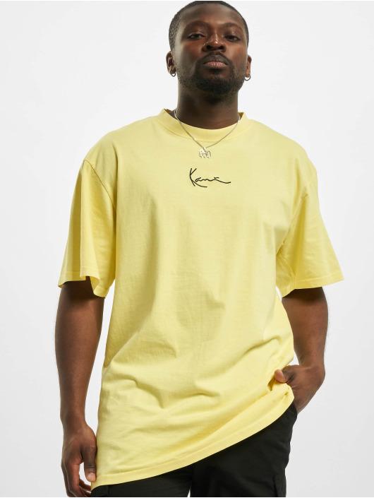 Karl Kani t-shirt Small Signature Washed geel