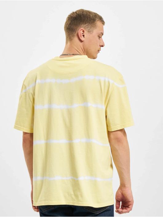 Karl Kani t-shirt Signature Tie Dye geel