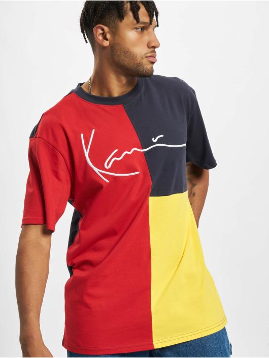 Karl Kani t-shirt Signature Block geel